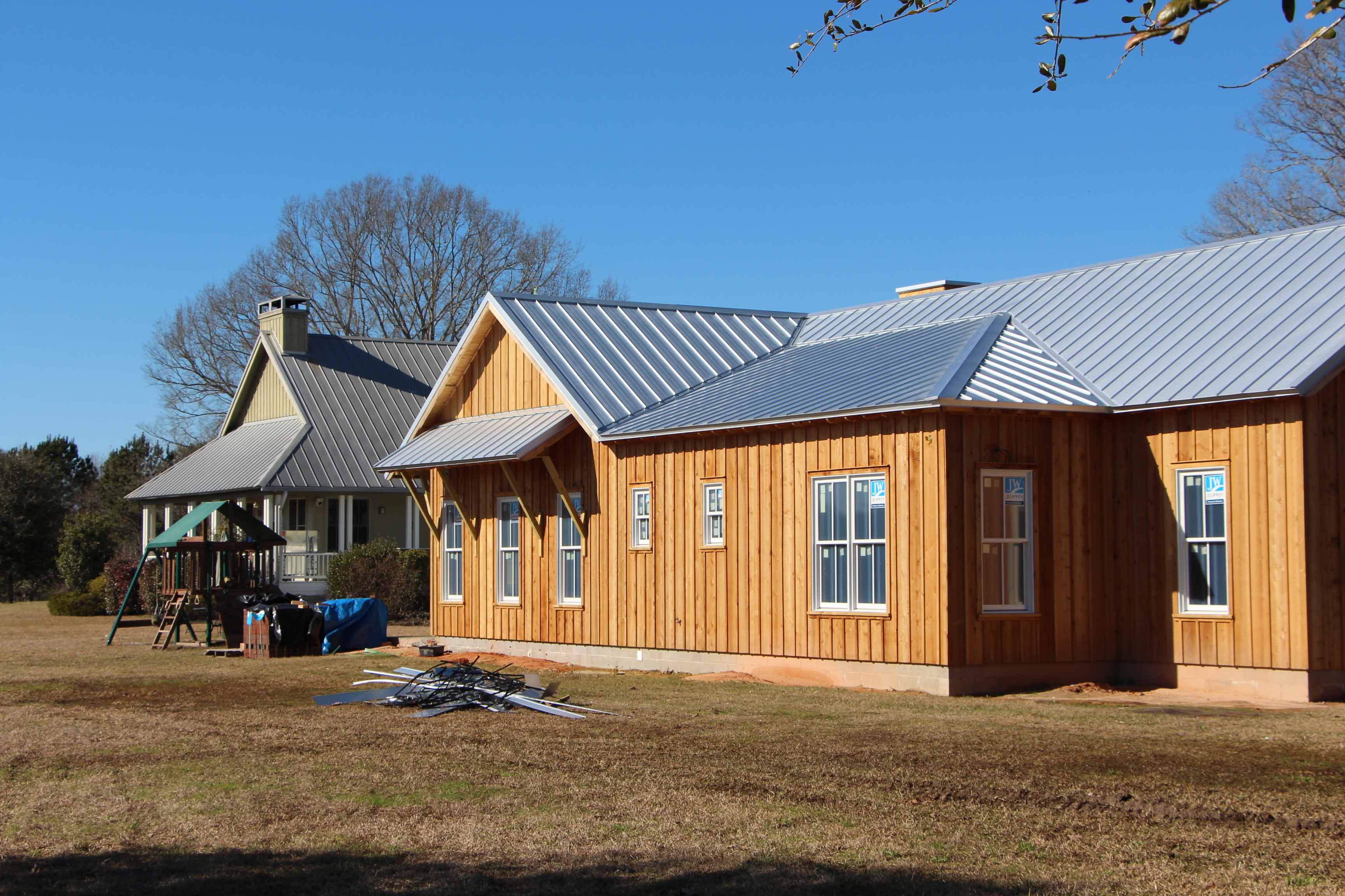 Guest House Construction : Poplarville guest house under construction bell architecture
